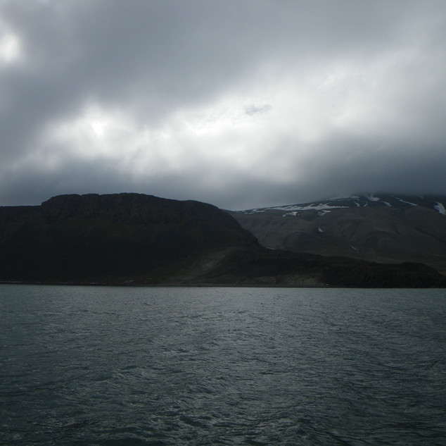 Such expression in those charcoal grey clouds that surrounds the Arctic with immortal grace