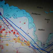 Wrecks, our location and direction etc. shown on maps