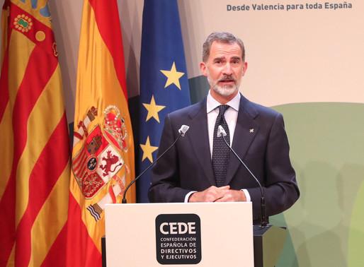 El Rey presidió en Valencia el acto de clausura de su congreso anual XIX de la CEDE.
