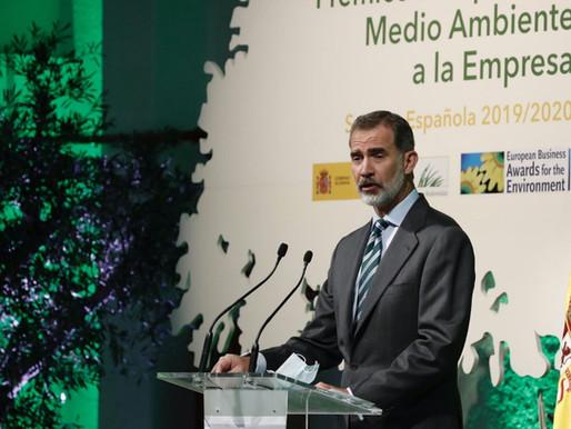 """El Rey presidió el acto de entrega de los """"Premios Europeos de Medio Ambiente a la Empresa"""" 2019/202"""