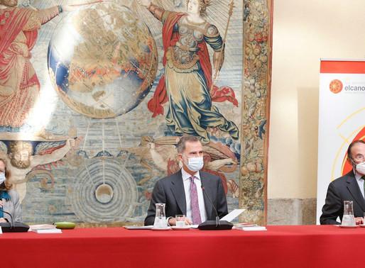 El Rey ha presidido este lunes la reunión anual del patronato del Real Instituto Elcano.
