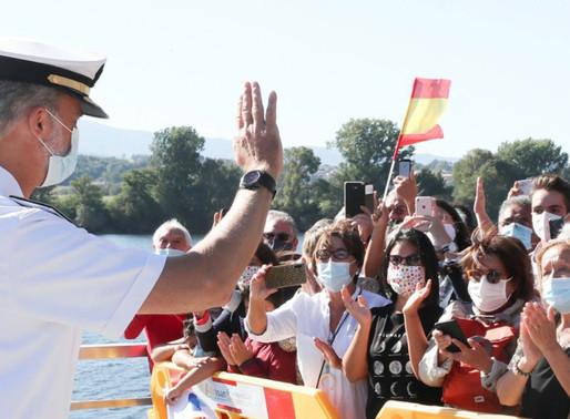El Rey Felipe VI visitó la Comandancia Naval del Miño en la localidad pontevedresa de Tuy.