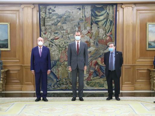 Audiencia del Rey a la Junta de Gobierno del Ateneo de Madrid con motivo de su bicentenario.