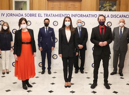 """La Reina presidió en la sede de la ASOCIACIÓN DE LA PRENSA DE MADRID sobre """"Tratamiento Informativo"""""""