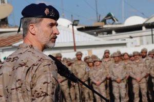 El Rey Felipe VI ha viajado este miércoles a Irak para pasar el día de su 51 cumpleaños con los mili