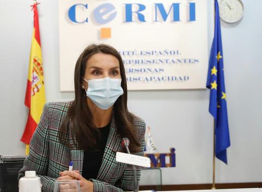 La Reina en la reunión del Comité Español de Representantes de Personas con Discapacidad CERMI.