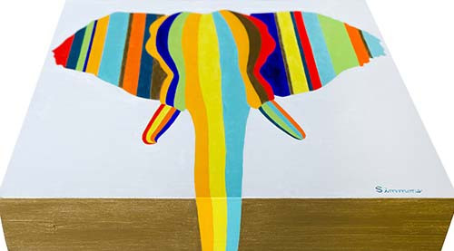 'Elephant in Stripes'
