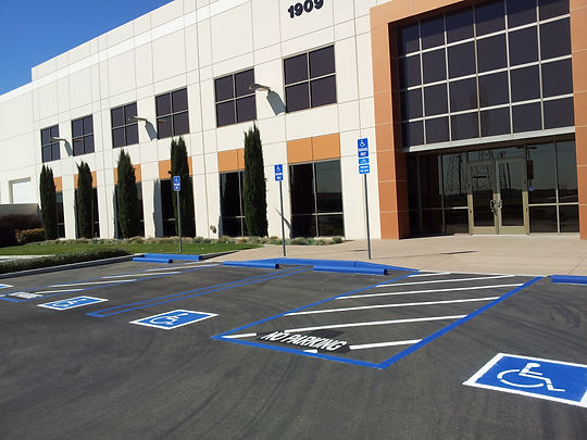 ADA accessible parking for re-striping a parking lot