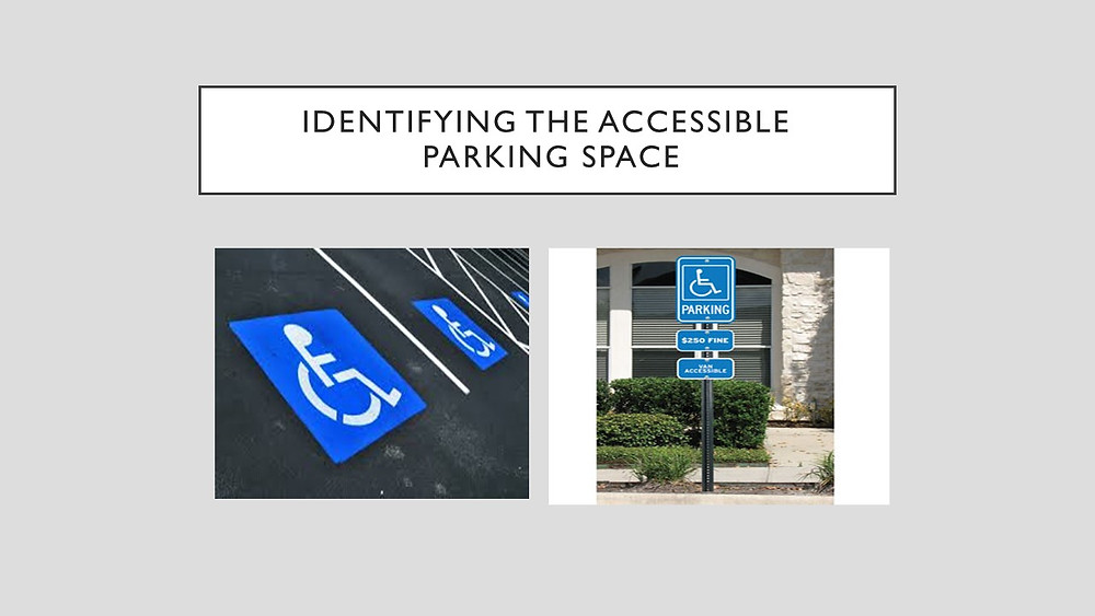 Signage for ADA accessible parking space