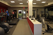 Photograph of an exercise facility at a hotel.