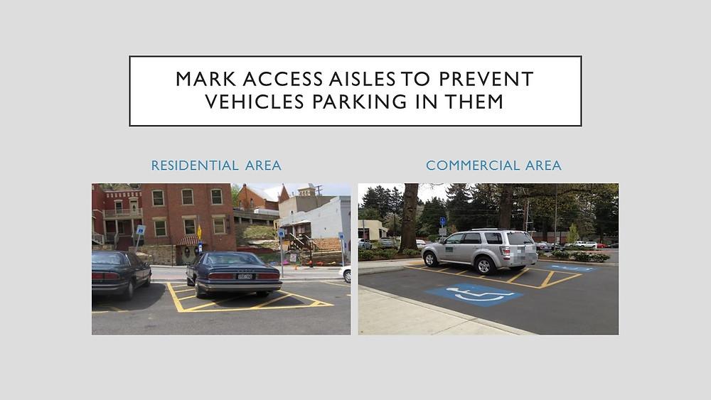 Check with law enforcement regarding parking enforcement