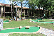 Photograph of miniature golf course.