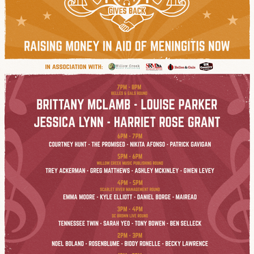 Live In The Living Room Gives Back for Meningitis Now on Saturday 3rd April!