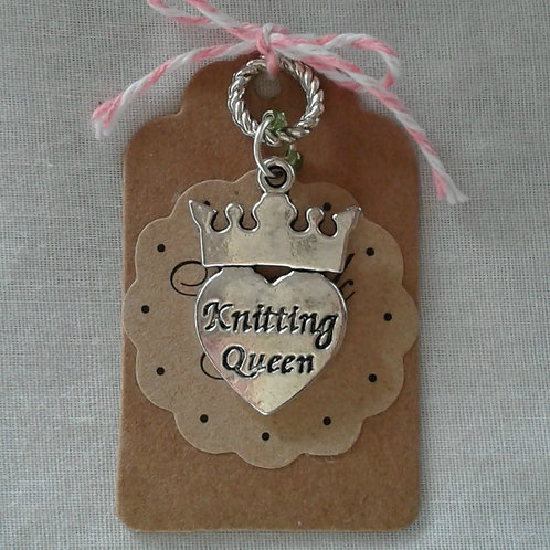 Knitting Queen Charm