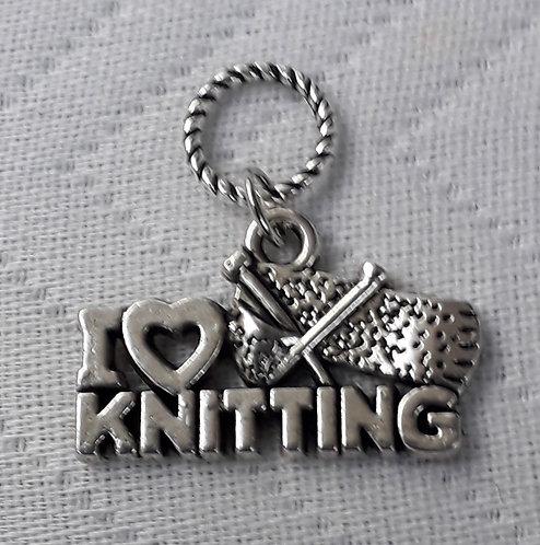 I Love Knitting Charm