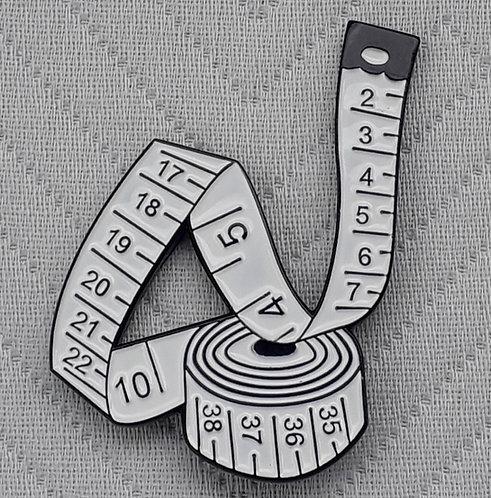 White Tape Measure Pin