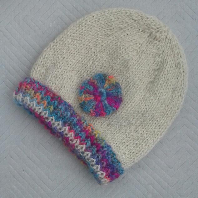 Lochanside Alpacas hand knitted beanie