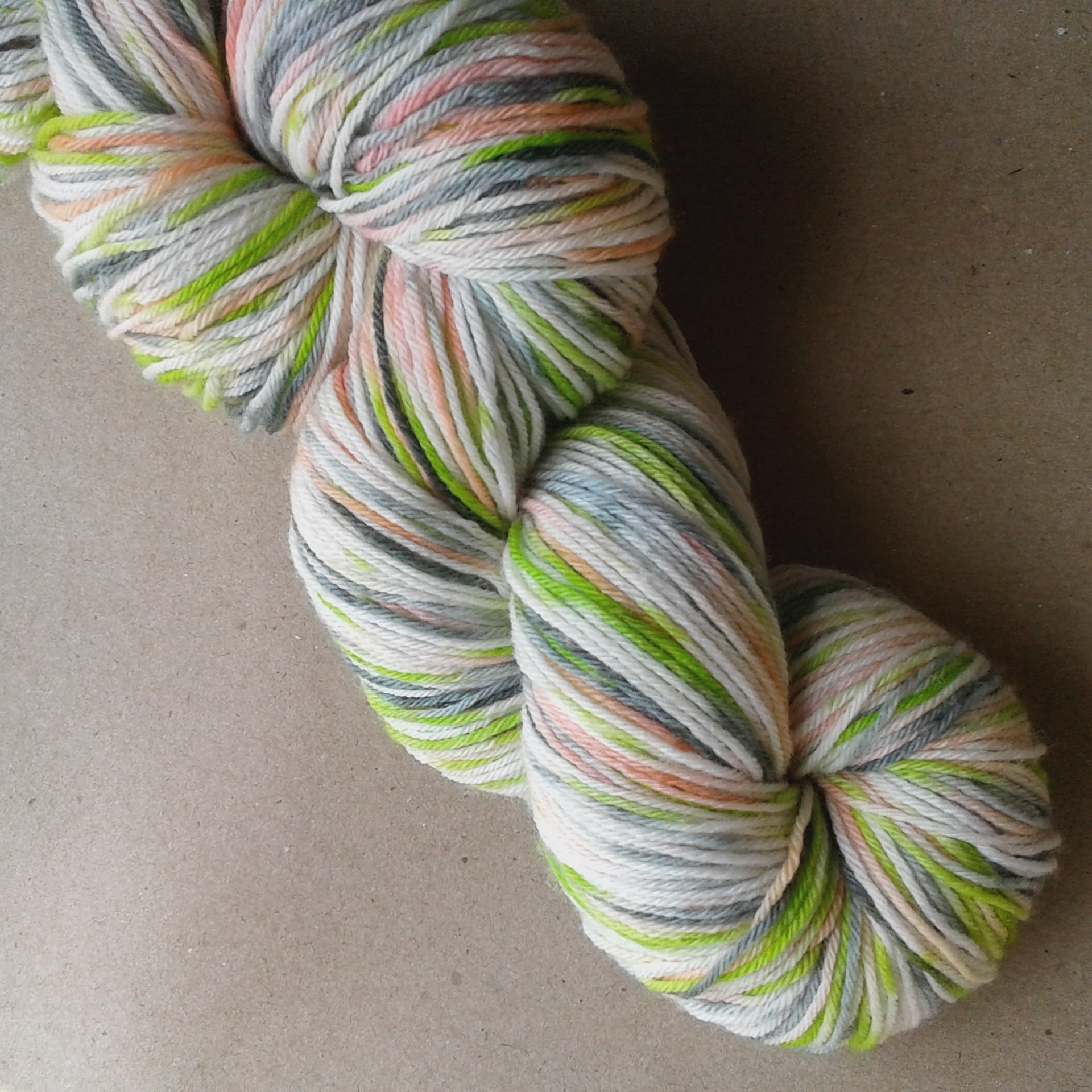 Ice Cream Ripple sock yarn 3