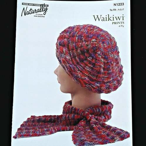Beret And Cravat Pattern In 4 Ply