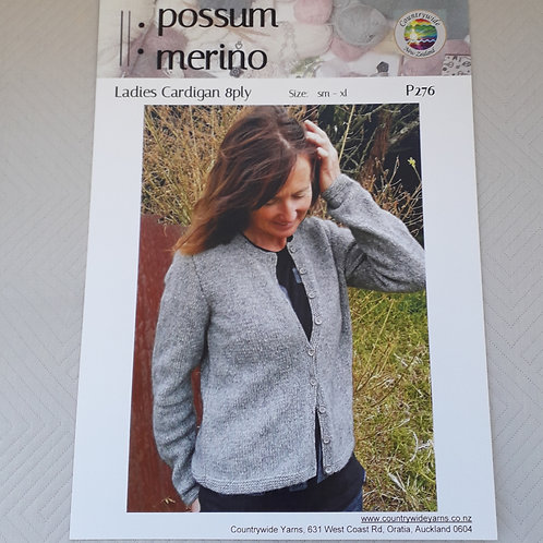 Ladies Every Day Type Practical Cardigan 8 Ply