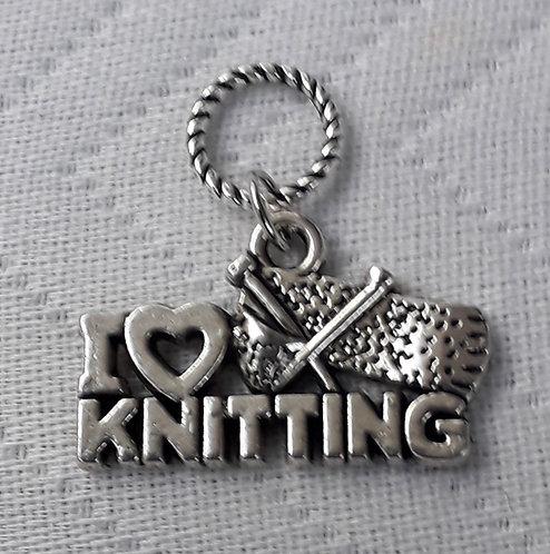 I love to Knit Charm