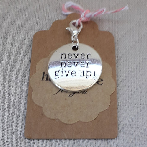 Never Never Give Up Silver Charm