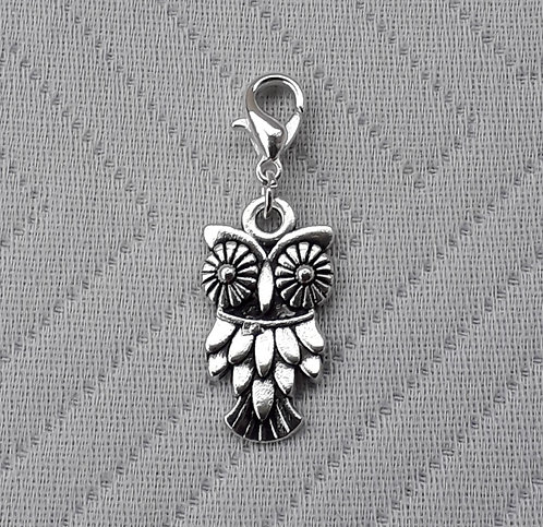 Wide Eyed Silver Owl
