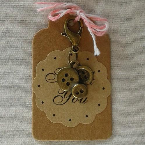 Bronze Buttons Charm