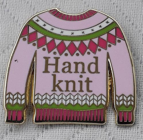 Hand Knit Jersey Pin