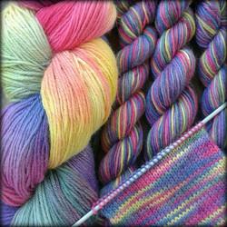 Multi-coloured yarn
