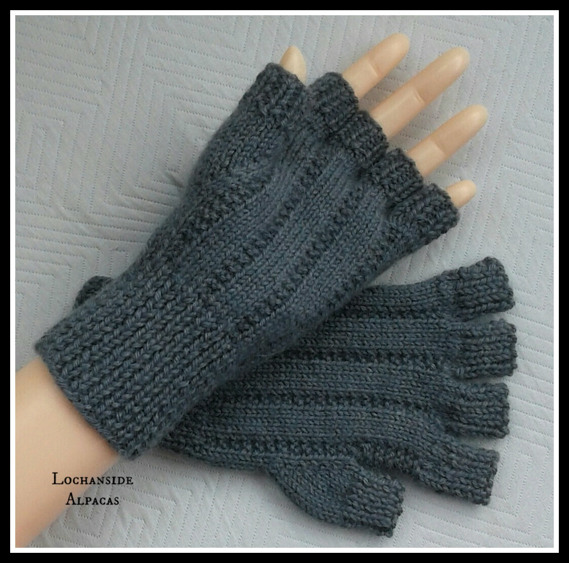 Men's Grey Alpaca Merino gloves - Copy