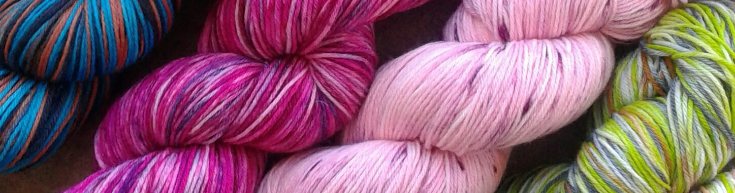 Hand Dyed Mulitcoloured Yarns