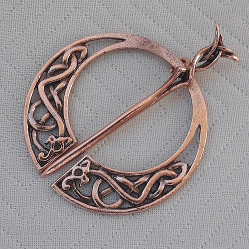 Celtic Copper Shawl Brooch
