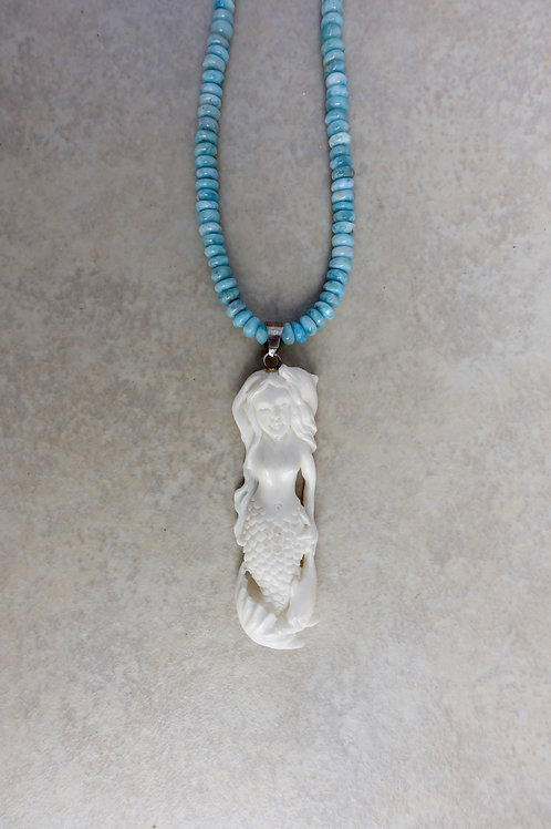 Mermaid and Dolphin with Larimar