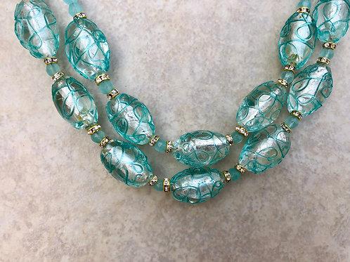 Aqua Blue Glass Beads