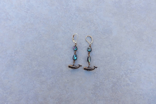 Whales and Abalone Earrings
