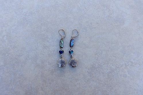 Abalone Scallop Earrings