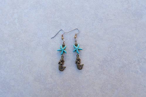 Mermaid and Turquoise Starfish