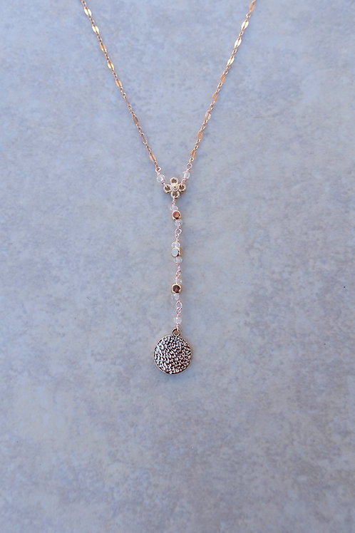 Julia's Rose Gold Y Necklace