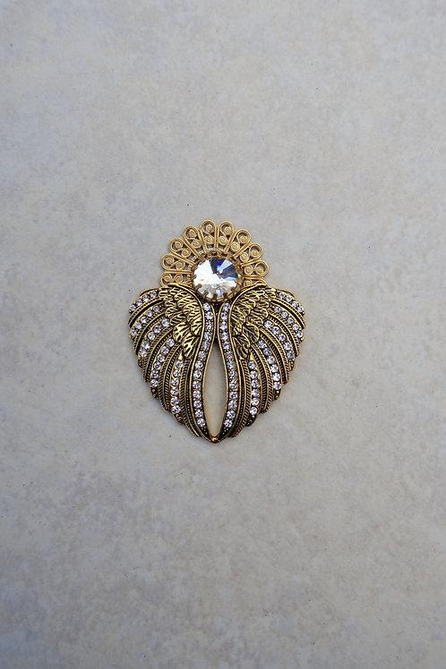 Rhinestone Gold Angel