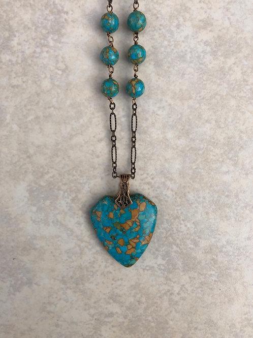 Mosaic Turquoise Heart