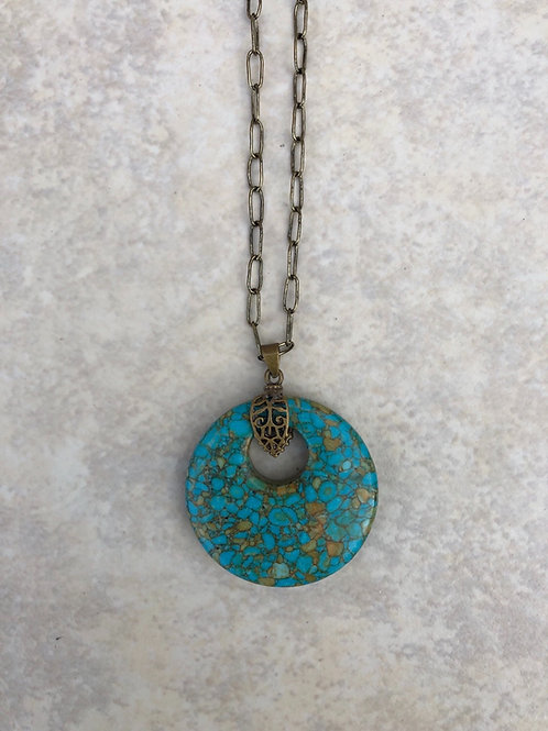 Mosaic Turquoise Disk