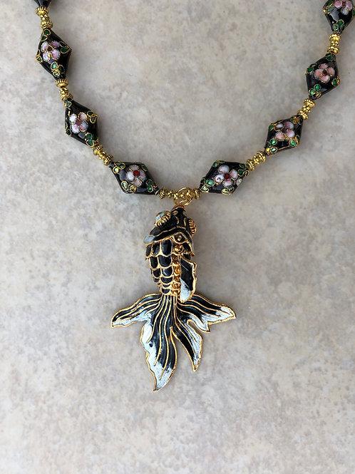 Koi Cloisonne Necklace