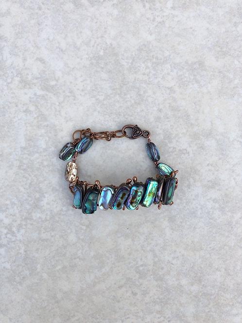 Woven Abalone Medium Bracelet