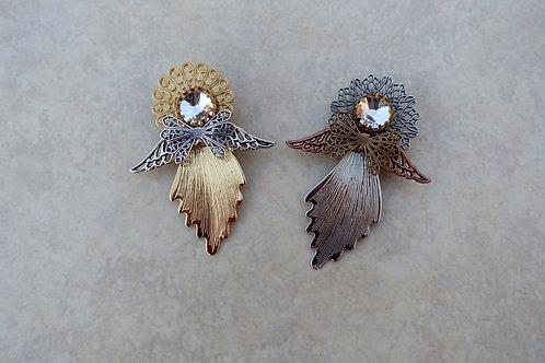 Angel with Precious Crystal Head