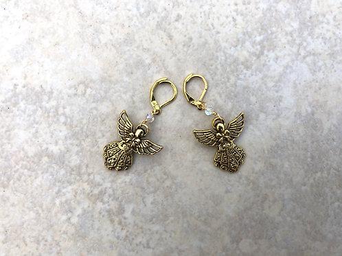 Angel in Gold Earring