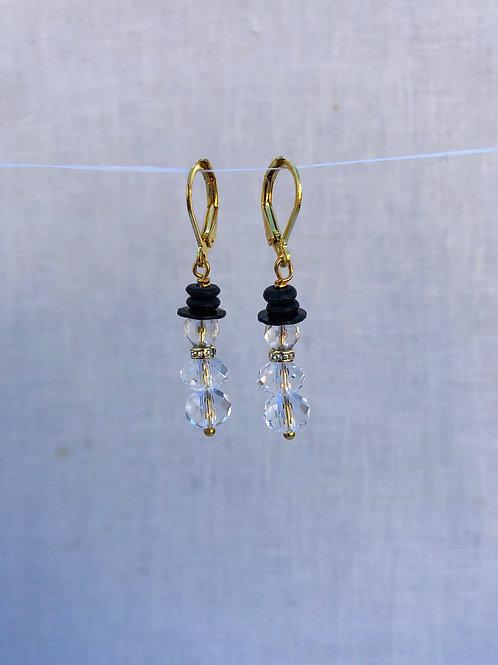 Snowman Crystal Earrings
