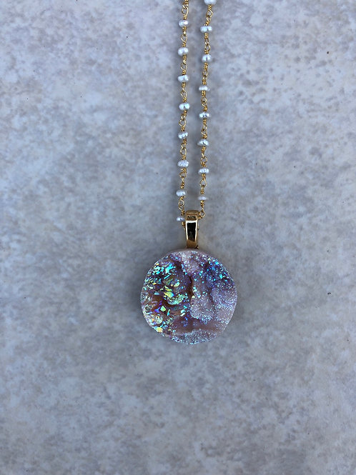Druzy with Pearls