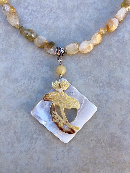 Yellow Lotus and Citrine