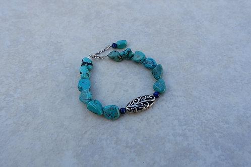 Turquoise Chunk Bracelet